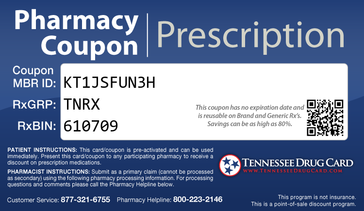 Tennesse Drug Card - Free Prescription Drug Coupon Card