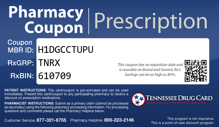 Tennessee Drug Card - Free Prescription Drug Coupon Card